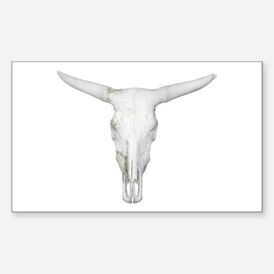 Bull Skull Rectangle Decal