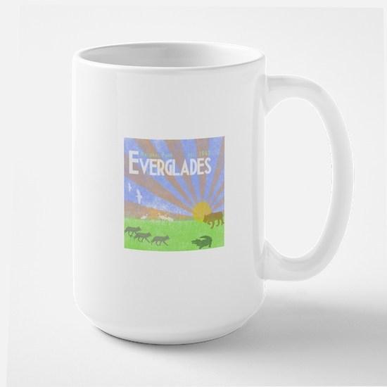 Florida Everglades National Park Vintag Large Mug