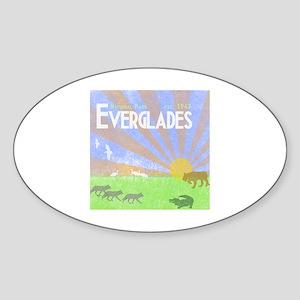 Florida Everglades National Park Vi Sticker (Oval)