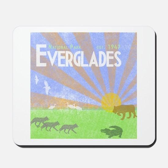 Florida Everglades National Park Vintage Mousepad