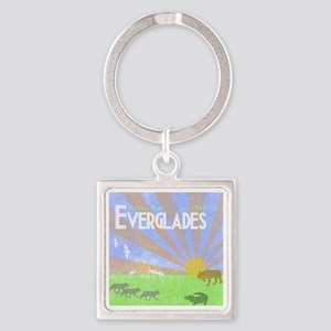 Florida Everglades National Park V Square Keychain