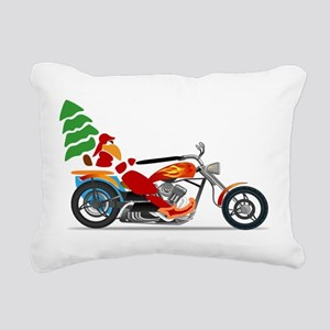 Have a Harley Christmas Rectangular Canvas Pillow