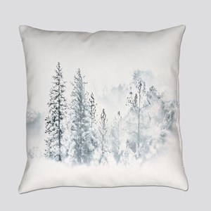 Winter Trees Everyday Pillow