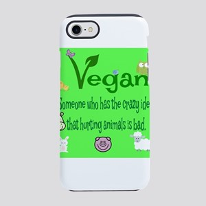 vegan square iPhone 8/7 Tough Case
