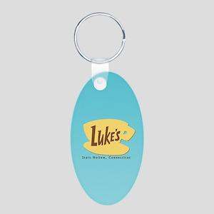 Luke's Diner Aluminum Oval Keychain