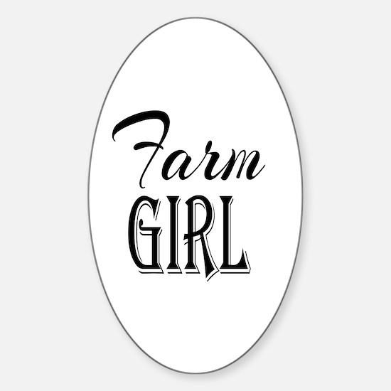 Farm Girl Sticker (Oval)