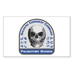 Phlebotomy Division - Ga Sticker (Rectangle 50 pk)