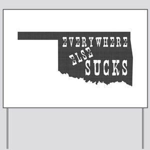 Oklahoma State Yard Sign