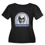 Machinin Women's Plus Size Scoop Neck Dark T-Shirt