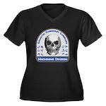 Machining Di Women's Plus Size V-Neck Dark T-Shirt