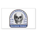 Machining Division - Gal Sticker (Rectangle 10 pk)
