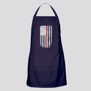 Thin Red Line Flag Apron (dark)