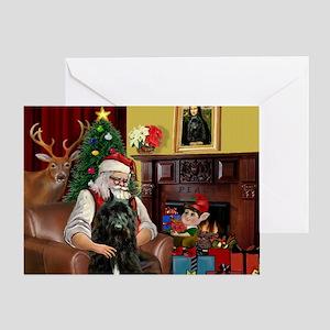 Santa's Bouvier Greeting Card