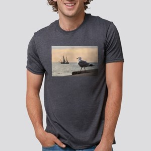 Sea gull and windjammer T-Shirt