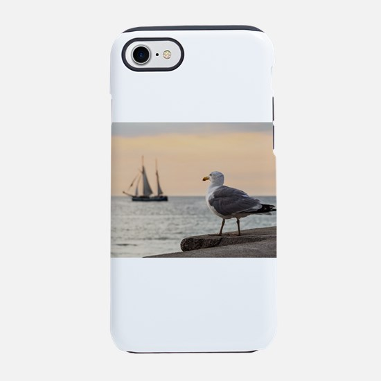 Sea gull and windjammer iPhone 8/7 Tough Case