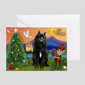Bouvier Christmas Fantasy Greeting Card
