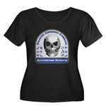 Accounti Women's Plus Size Scoop Neck Dark T-Shirt