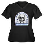 Accounting D Women's Plus Size V-Neck Dark T-Shirt