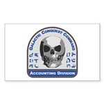 Accounting Division - Galactic Sticker (Rectangle)