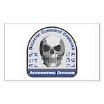 Accounting Division - Ga Sticker (Rectangle 10 pk)