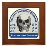 Accounting Division - Galactic Conques Framed Tile