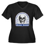 Welding Divi Women's Plus Size V-Neck Dark T-Shirt