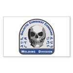 Welding Division - Galac Sticker (Rectangle 50 pk)