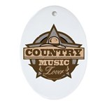 Country Lover Oval Ornament