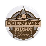 Country Lover Round Ornament