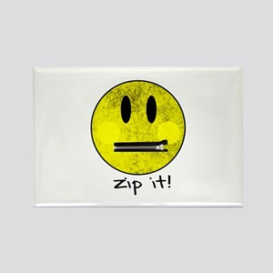 SMILEY FACE ZIP IT Magnets