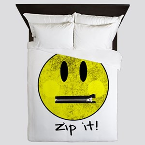 SMILEY FACE ZIP IT Queen Duvet