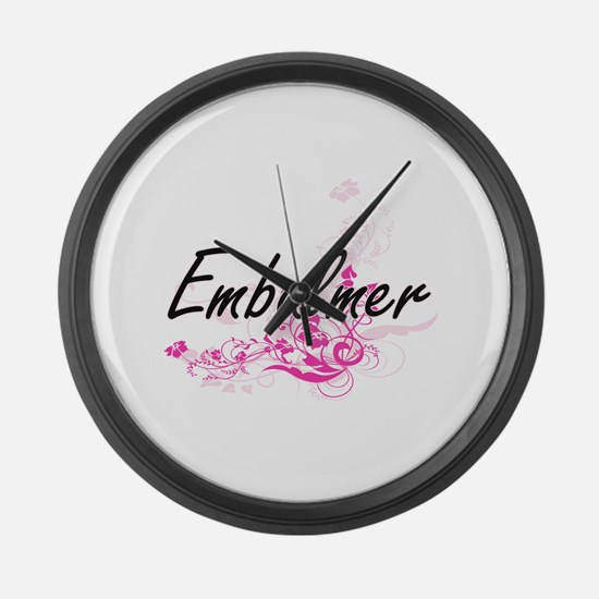 Embalmer Artistic Job Design with Large Wall Clock
