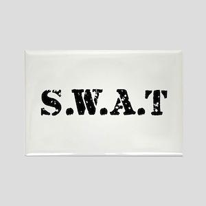 SWAT team Rectangle Magnet