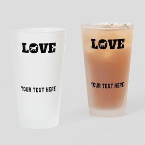 Flattie Love (Custom) Drinking Glass