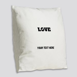 Boxer Love (Custom) Burlap Throw Pillow