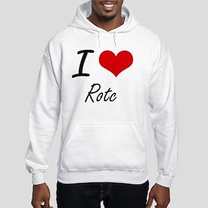 I Love Rotc Hooded Sweatshirt