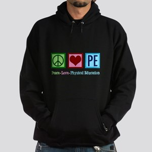 Peace Love PE Teacher Hoodie (dark)