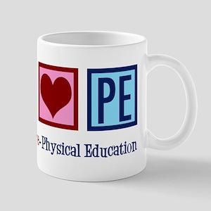 Peace Love PE Teacher 11 oz Ceramic Mug