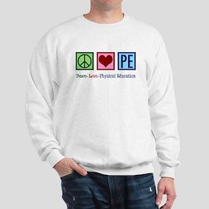 Peace Love PE Teacher Sweatshirt