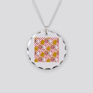 chicken and waffles Necklace Circle Charm