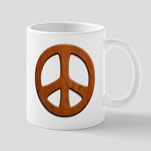 Cut-Out Wood Peace Mug