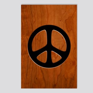 Cut-Out Wood Peace Postcards (Package of 8)