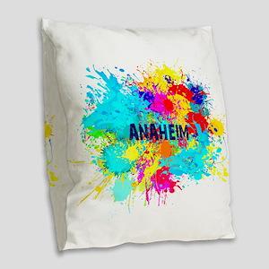 Anaheim Burst Burlap Throw Pillow