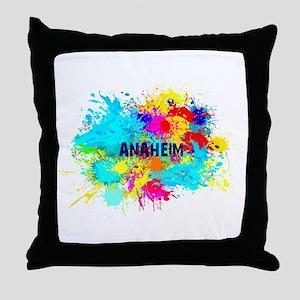 Anaheim Burst Throw Pillow