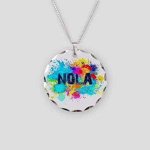Good Vibes NOLA Burst Necklace Circle Charm