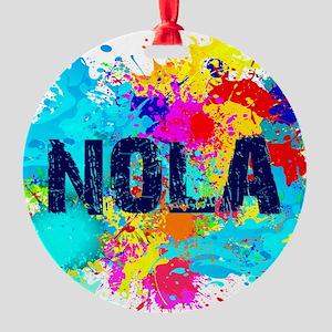 Good Vibes NOLA Burst Round Ornament