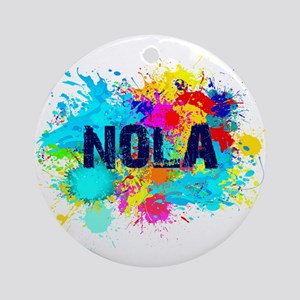Good Vibes NOLA Burst Round Ornament