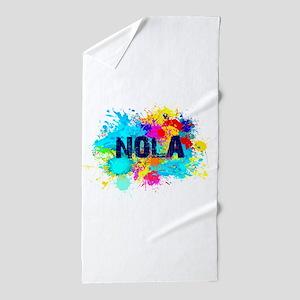 Good Vibes NOLA Burst Beach Towel