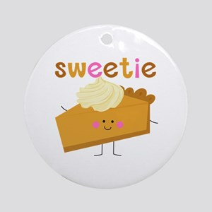 Sweetie Pie Round Ornament