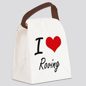 I Love Roving Canvas Lunch Bag